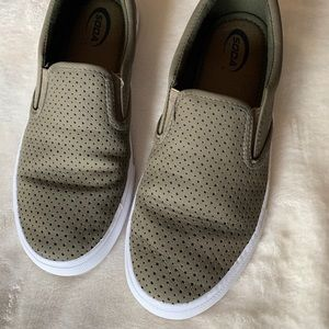 Soda Perforated Slide On Shoes